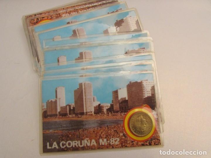 24 UNIDADES LA CORUÑA M-82 MONEDA OFICIAL 1 PESETA (Coleccionismo Deportivo - Medallas, Monedas y Trofeos de Fútbol)
