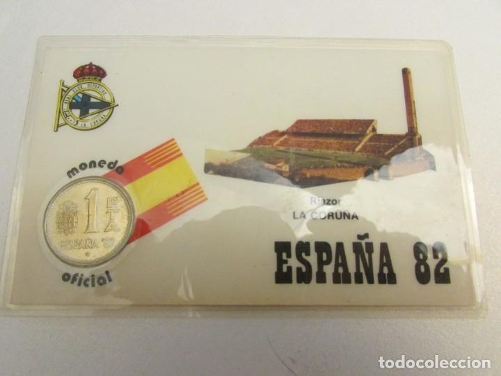Coleccionismo deportivo: 24 unidades La Coruña m-82 moneda oficial 1 peseta - Foto 3 - 145688134
