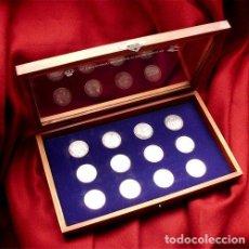 Coleccionismo deportivo: MONEDAS DEL CENTENARIO DEL REAL MADRID (1902-2002) ESTUCHE ORIGINAL CON LAS 12 MONEDAS . Lote 147077346