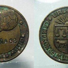 Coleccionismo deportivo: MONEDA ESPAÑA-82 -COPA DEL MUNDO DE FUTBOL - URUGUAY. Lote 149205138