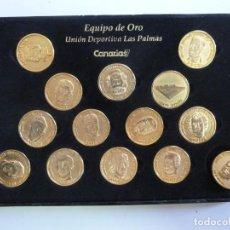 Coleccionismo deportivo: 14 MONEDAS. EQUIPO DE ORO. UNIÓN DEPORTIVA LAS PALMAS. CANARIAS 7. Lote 150953338