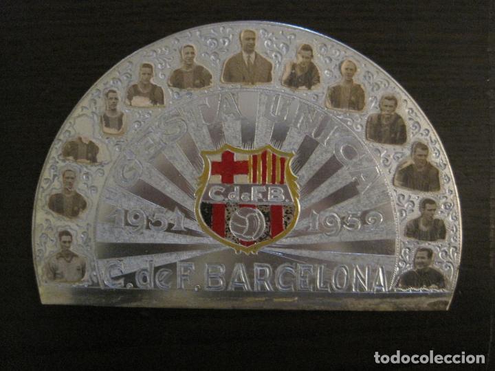 CLUB FUTBOL BARCELONA-CHAPA CONMEMORATIVA GESTA UNICA 1951 1952-BARÇA CINCO COPAS-VER FOTOS(V-15954) (Coleccionismo Deportivo - Medallas, Monedas y Trofeos de Fútbol)