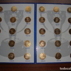 Coleccionismo deportivo: 30 MONEDAS 30 LIGAS. COLECCION MONEDAS DE ORO REAL MADRID.. Lote 153232026