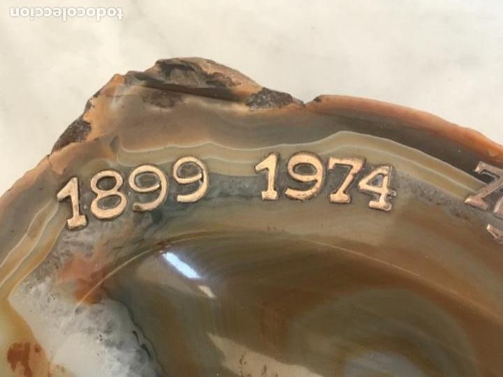 Coleccionismo deportivo: IMPORTANTE CENICERO DE PLATA DEL 75 ANIVERSARIO DEL FCB 1899-1974 FÚTBOL CLUB BARCELONA. - Foto 2 - 154973918