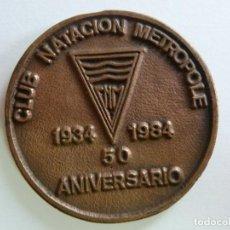 Coleccionismo deportivo: CLUB NATACIÓN METROPOLE. 1934. 1984. 50 ANIVERSARIO. Lote 156480038
