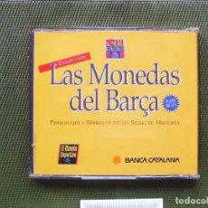 Coleccionismo deportivo: F.C. BARCELONA COLECCION MEDALLAS MONEDAS CENTENARIO DEL BARÇA PLATA 800/000. Lote 156650498