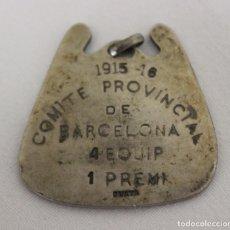 Coleccionismo deportivo: MEDALLA DE LA F.C.C.F. FEDERACIÓN CATALANA DE CLUBS DE FOOT-BALL. 1915-1916. PLATA.. Lote 156753286