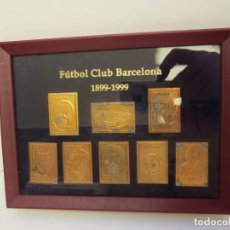 Coleccionismo deportivo: CUADRO DE SELLOS FUTBOL CLUB BARCELONA - 1899/1999 CONMEMORATIVOS DE LOS 100 AÑOS . Lote 157923814