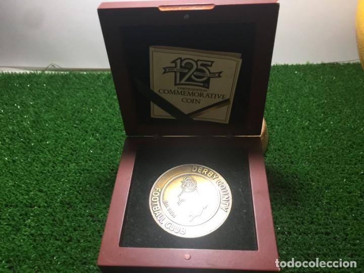 DERBY COUNTY MONEDA 125 ANIVERSARIO. EDICIÓN LIMITADA A 300 UNIDADES (Coleccionismo Deportivo - Medallas, Monedas y Trofeos de Fútbol)