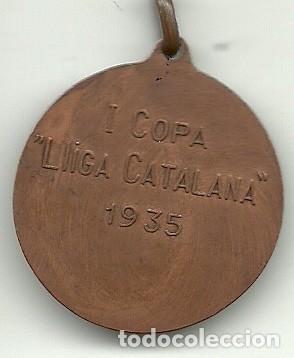 Coleccionismo deportivo: (F-190512)MEDALLA I COPA LLIGA CATALANA 1935 FUTBOL - Foto 3 - 163392098