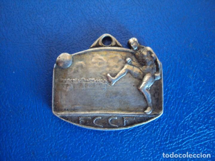 (F-190563)MEDALLA DE PLATA F.C.C.F. FEDERACION CATALANA CLUBS DE FOOT-BALL - MARCAJE RENART - INFANT (Coleccionismo Deportivo - Medallas, Monedas y Trofeos de Fútbol)