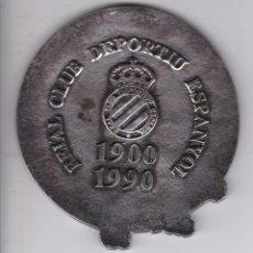 Coleccionismo deportivo: MEDALLA CONMEMORATIVA R.C.D. ESPANYOL DE BARCELONA 90 ANIVERSARIO 1900-1990 - ESPAÑOL. Lote 165382234