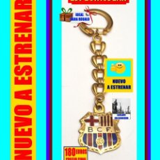 Coleccionismo deportivo: FÚTBOL CLUB BARCELONA - LLAVERO DE LUJO ORIGINAL AÑOS 40 - CHAPADO EN ORO - SIGLAS B.C.F - RARÍSIMO. Lote 166466206
