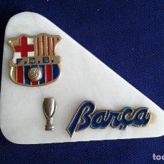 Coleccionismo deportivo: MOTIVOS FUTBOL CLUB BARCELONA SOBRE PLACA MARMOL MEDIDAS 14X11X3 CM.. Lote 167915252