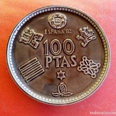 Coleccionismo deportivo: PLATO DE MONEDA DE 100 PESETAS DEL MUNDIAL 82.. Lote 168002448