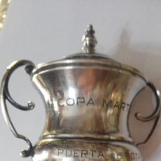 Coleccionismo deportivo: COPA MARTEL PUERTA DE ROTA 24-6-1932 90 GRAMOS 13 CM. Lote 169389365