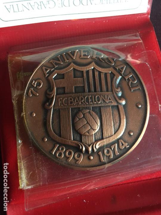 MEDALLA 75 ANIVERSARIO FC BARCELONA (Coleccionismo Deportivo - Medallas, Monedas y Trofeos de Fútbol)