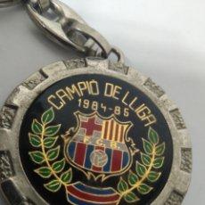 Coleccionismo deportivo: LLAVERO FÚTBOL CUB BARCELONA CAMPEON DE LIGA 1984 - 85. Lote 172856207