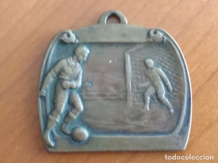 INTERESANTE MEDALLA DE COBRE, PREMIO DE LA COPA BLANCO (4/5/1930) (Coleccionismo Deportivo - Medallas, Monedas y Trofeos de Fútbol)