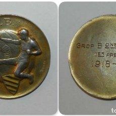 Coleccionismo deportivo: MEDALLA DE LA FEDERACIÓ CATALANA DE CLUBS DE FÚTBOL. C.P.B. AÑO 1918-1919. MEDALLA DE PLATA. GROP B.. Lote 175654419