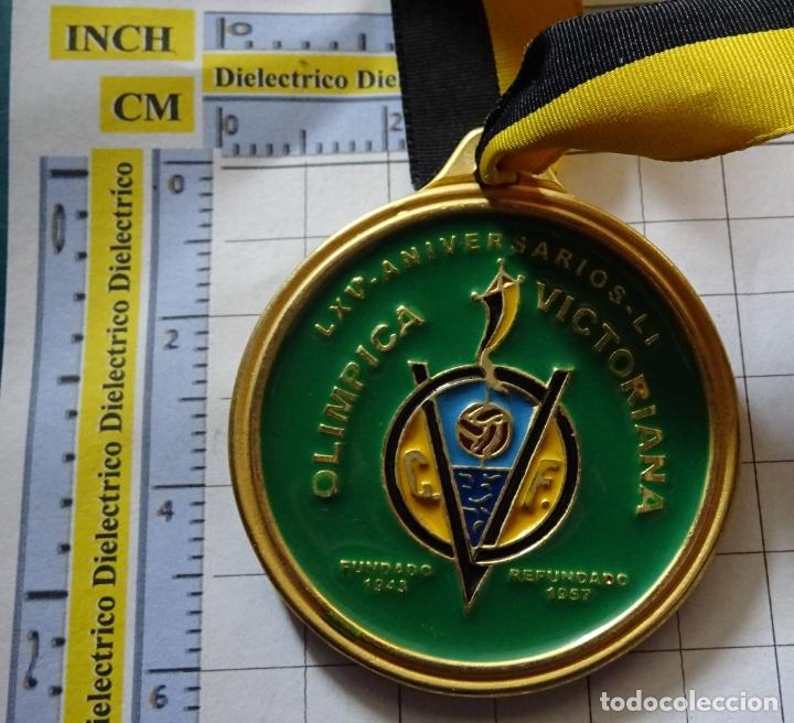 MEDALLA MEDALLÓN DE FÚTBOL MODESTO MALAGUEÑO. CLUB FÚTBOL OLÍMPICA VICTORIANA MÁLAGA 2009. 40 GR (Coleccionismo Deportivo - Medallas, Monedas y Trofeos de Fútbol)