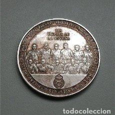 Coleccionismo deportivo: REAL MADRID. MONEDA CONMEMORATIVA NOVENA COPA DE EUROPA 2002 GLASGOW. LOS HÉROES DE LA NOVENA.. Lote 177459714