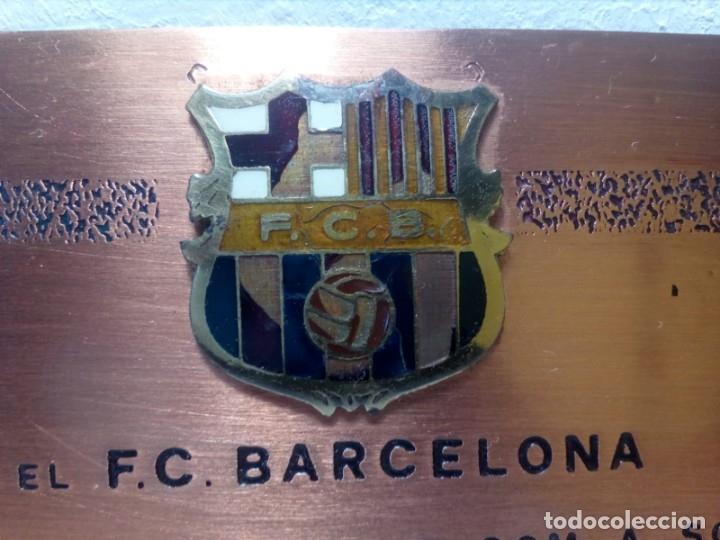Coleccionismo deportivo: PLACA ESMALTADA DEL 75 ANIVERSARIO DEL F.C. BARCELONA (BARÇA) - PLACA SOCIO - Foto 2 - 177884479