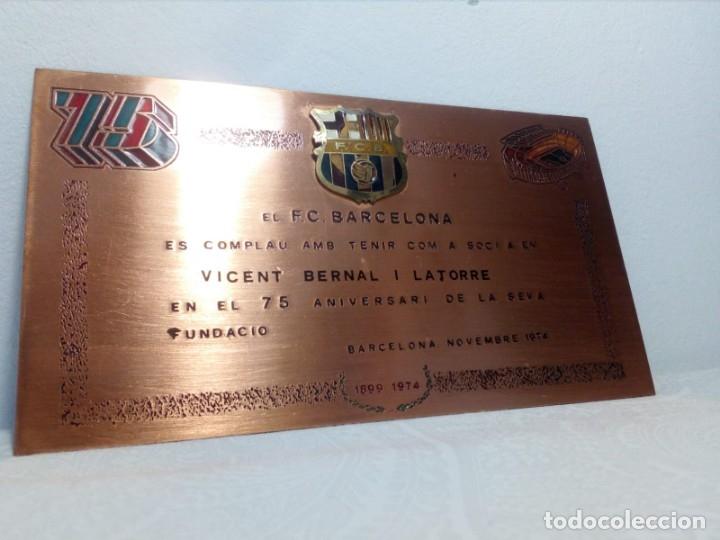 Coleccionismo deportivo: PLACA ESMALTADA DEL 75 ANIVERSARIO DEL F.C. BARCELONA (BARÇA) - PLACA SOCIO - Foto 6 - 177884479