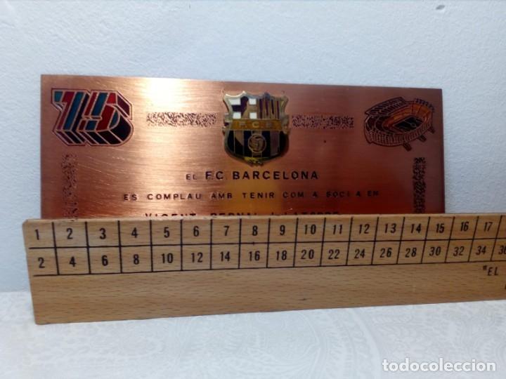 Coleccionismo deportivo: PLACA ESMALTADA DEL 75 ANIVERSARIO DEL F.C. BARCELONA (BARÇA) - PLACA SOCIO - Foto 7 - 177884479