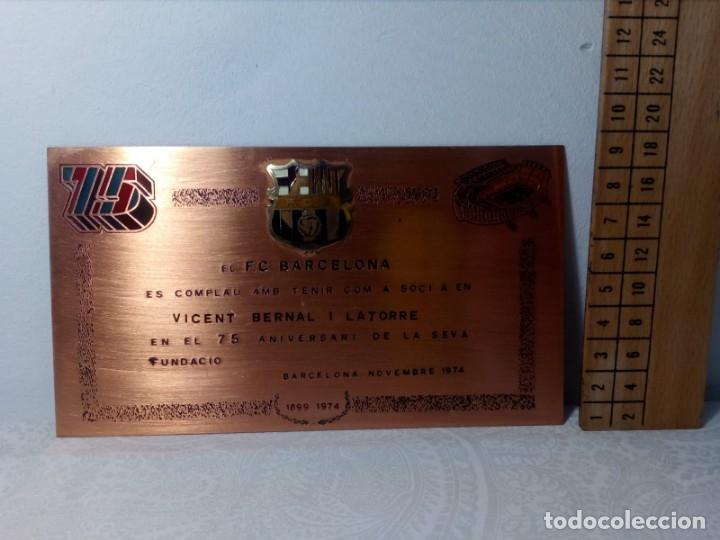 Coleccionismo deportivo: PLACA ESMALTADA DEL 75 ANIVERSARIO DEL F.C. BARCELONA (BARÇA) - PLACA SOCIO - Foto 9 - 177884479