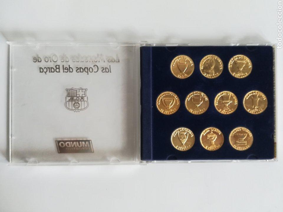 Coleccionismo deportivo: Colección Las Monedas de oro de las Copas del Barça - Mundo Deportivo - Foto 2 - 180250115
