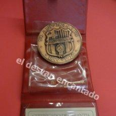 Coleccionismo deportivo: FC BARCELONA. MEDALLA CONMEMORATIVA 75 ANIVERSARIO. EN COBRE CON ESTUCHE Y CERTIFICADO. Lote 181127032