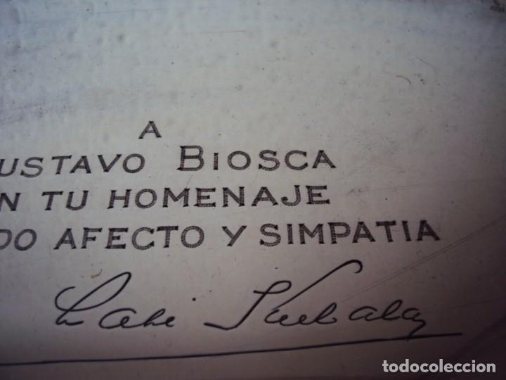 Coleccionismo deportivo: (JU-191131)PLACA DE PLATA DE LADISLAO KUBALA A GUSTAVO BIOSCA EN SU HOMENAJE 7-2-1962 - Foto 3 - 182853778