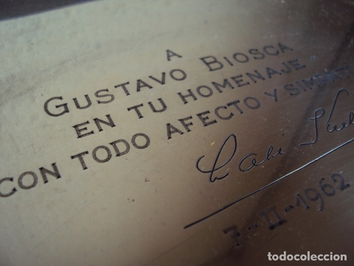 Coleccionismo deportivo: (JU-191131)PLACA DE PLATA DE LADISLAO KUBALA A GUSTAVO BIOSCA EN SU HOMENAJE 7-2-1962 - Foto 4 - 182853778