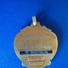 Coleccionismo deportivo: (JU-191132)MEDALLA DE PLATA DORADA DEL SAN LORENZO DE ALMAGRO A GUSTAVO BIOSCA 1953. Lote 182854486