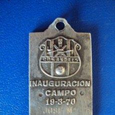 Coleccionismo deportivo: (F-191108)MEDALLA DE PLATA INAGURACION CAMPO C.D.SAN ANDRES 19-3-1970. Lote 182868080