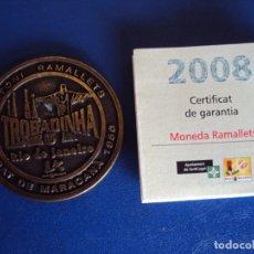 Coleccionismo deportivo: (F-191109)MONEDA RAMALLETS-CULE 10 2008-CON CERTIFICADO NUMERADA -SERIE LIMITADA-BARCELONA FUTBOL. Lote 182868336
