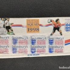 Coleccionismo deportivo: PACK 4 MEDALLAS - COLECCION THE OFFICIAL ENGLAND SQUAD 1998 (PRECINTADAS). Lote 183696438