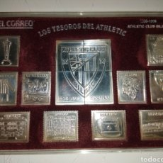 Coleccionismo deportivo: SELLOS DE PLATA LOS TESOROS DEL ATHLETIC DE BILBAO EDICIÓN CENTENARIO 1898 - 1998 PAIS VASCO. Lote 186335062