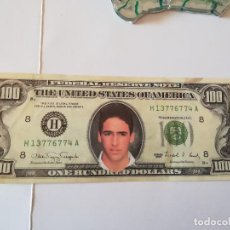 Coleccionismo deportivo: BILLETE ONE HUNDRED DOLLARS. ANVERSO BUSTO RAUL. Lote 186356836