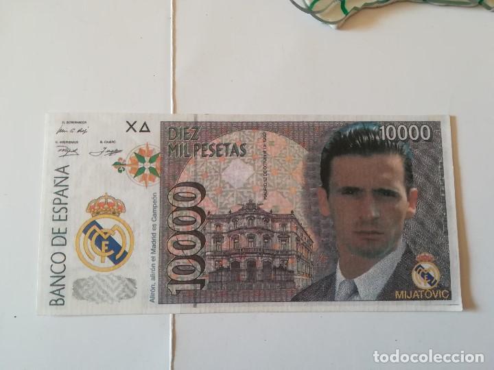 REPLICA BILLETE 10000 PTS. ANVERSO MIJATOVIC, REVERSO ESCUDO REAL MADRID (Coleccionismo Deportivo - Medallas, Monedas y Trofeos de Fútbol)