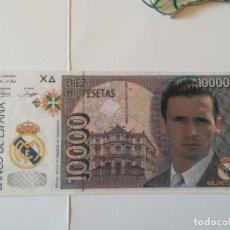 Coleccionismo deportivo: REPLICA BILLETE 10000 PTS. ANVERSO MIJATOVIC, REVERSO ESCUDO REAL MADRID. Lote 186357147
