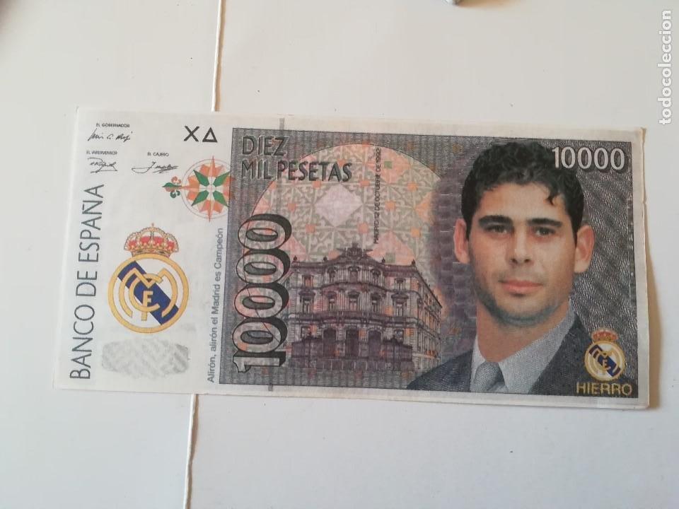REPLICA BILLETE 10000 PTS. ANVERSO HIERRO, REVERSO SEEDORF (Coleccionismo Deportivo - Medallas, Monedas y Trofeos de Fútbol)