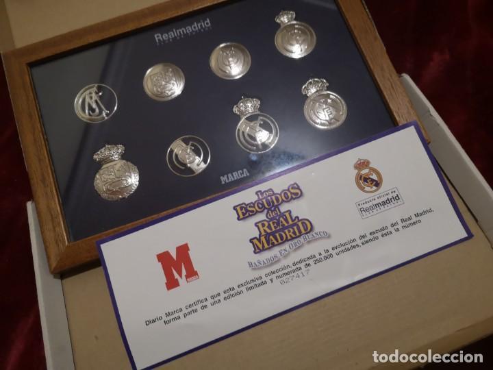 Coleccionismo deportivo: ESCUDOS DEL REAL MADRID - Foto 3 - 186450588