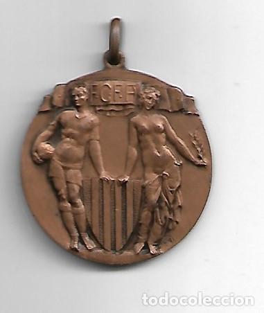 F.C.F.A CAMPEONAT CATALUNYA AMATEUR 1934-35 2ª CATEGORIA 3 ER PREMI (Coleccionismo Deportivo - Medallas, Monedas y Trofeos de Fútbol)
