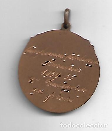 Coleccionismo deportivo: F.C.F.A Campeonat Catalunya Amateur 1934-35 2ª categoria 3 er premi - Foto 2 - 186457207