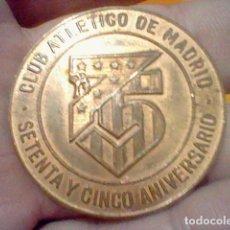 Coleccionismo deportivo: 75 ANIVERSARIO ATLETICO MADRID AT 1978 MEDALLA COBRE 3,8 CMS DIÁMETRO MUY RARA . Lote 191588081