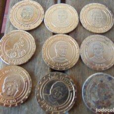 Coleccionismo deportivo: LOTE DE 9 MONEDAS CONMEMORATIVAS DEL REAL MADRID 30 LIGAS. Lote 191630656