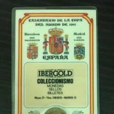Coleccionismo deportivo: CALENDARIO DE LA COPA DEL MUNDO DE 1982 - IBERGOLD - CARNET CONMEMORATIVO MUNDIAL FÚTBOL ESPAÑA 82. Lote 191657591