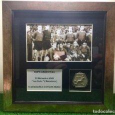 Coleccionismo deportivo: FC BARCELONA MEDALLA CAMPÉON SUPERCOPA ( COPA ARGENTINA ) 1945 BARCELONA ATHLETIC BILBAO. Lote 192965960